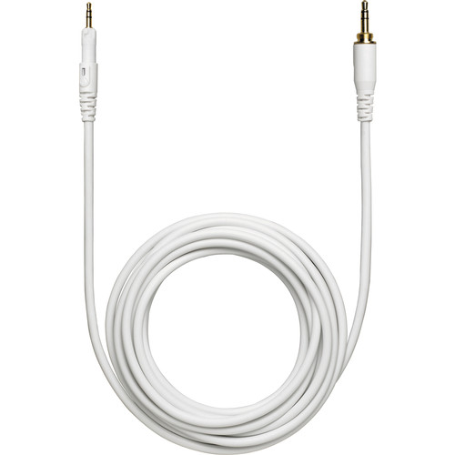 Audio-Technica HP-LC Replacement Cable for ATH-M50xWH Headphones (White, Straight)