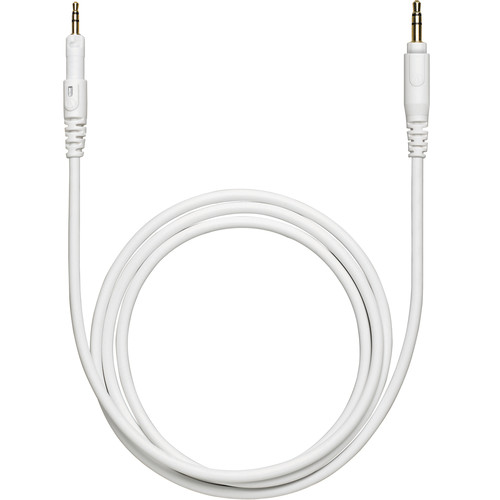 Audio-Technica HP-SC Replacement Cable for ATH-M50xWH Headphones, with Adapter (White, Straight)