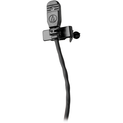 Audio-Technica MT830cH Omnidirectional Lavalier Microphone for Wireless (Black, Hirose 4-Pin cH-Style Connector)