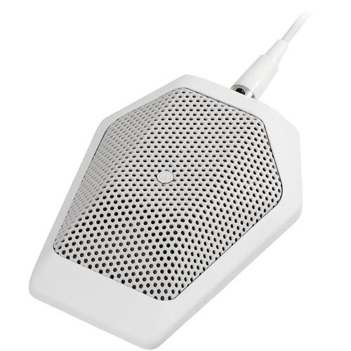 Audio-Technica U851RWb Cardioid Condenser Boundary Microphone (White)