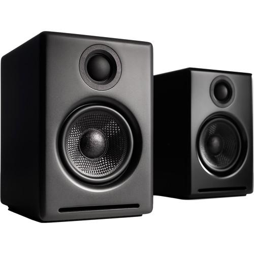 Audioengine A2+ Wireless Bluetooth Speaker System (Satin Black, Pair)
