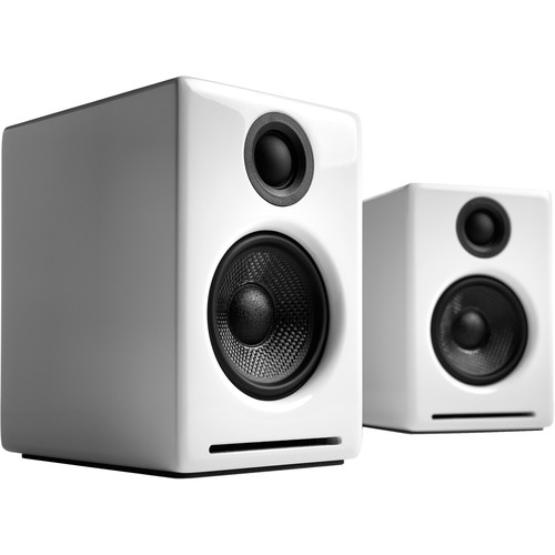 Audioengine A2+ Wireless Bluetooth Speaker System (Hi-Gloss White, Pair)