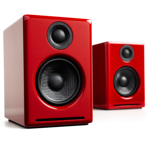 "Audioengine A2+ 2.75"" Powered Desktop Speakers (Red)"