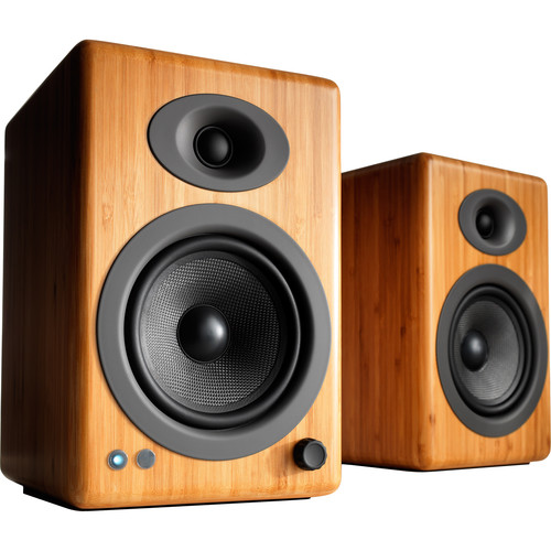 Audioengine A5+ Wireless Bluetooth Speaker System (Solid Carbonized Bamboo, Pair)