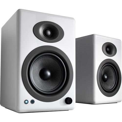 Audioengine A5+ Wireless Bluetooth Speaker System (Hi-Gloss White, Pair)