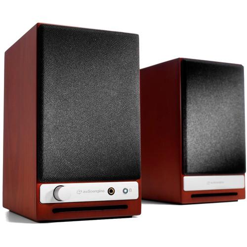 Audioengine HD3 2-Way Wireless Bookshelf Speakers (Pair, Cherry)