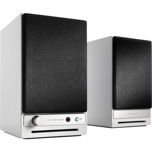 Audioengine HD3 2-Way Wireless Bookshelf Speakers (Pair, High-Gloss White)