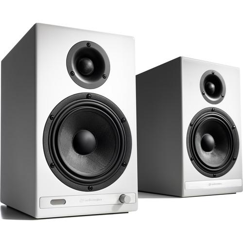 Audioengine HD6 Bluetooth Speaker System (Hi-Gloss White, Pair)