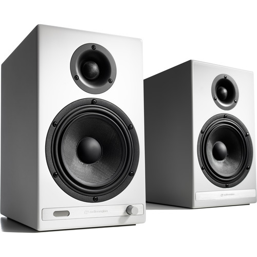 Audioengine HD6 Bluetooth Speakers (Hi-Gloss White, Pair)