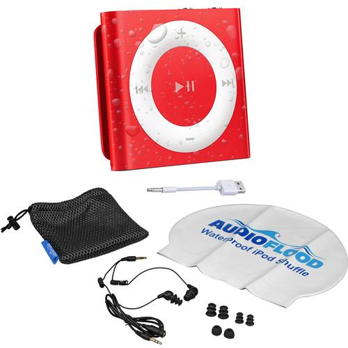 AUDIOFLOOD 2GB Waterproof iPod Bundle (Red)