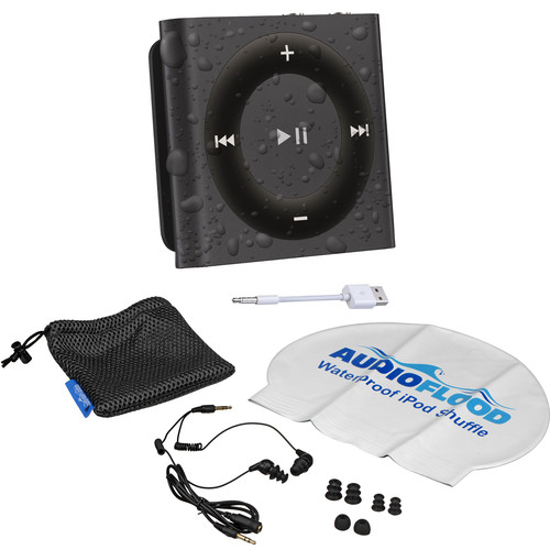 AUDIOFLOOD 2GB Waterproof iPod Bundle (Space Gray)