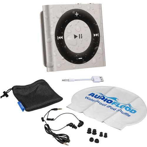 AUDIOFLOOD 2GB Waterproof iPod Bundle (Silver)