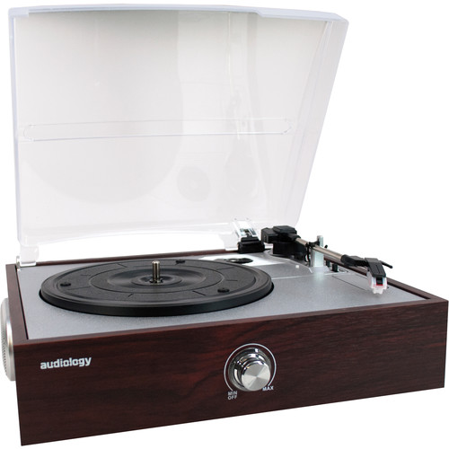 Audiology 3 Speed USB Turntable with Built-In Stereo Speakers