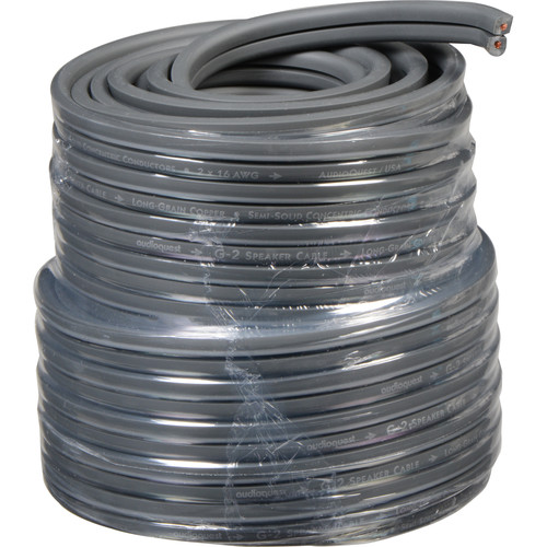 AudioQuest G2 Flat Series 2-Conductor Bulk Speaker Cable (50', Dark Gray)