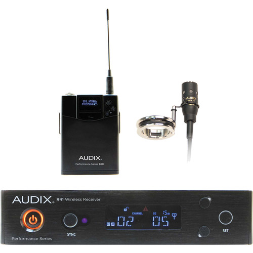 Audix AP41 Performance Series Single-Channel Flute Wireless System with ADX10FLP Miniaturized Condenser Microphone (554 to 586 MHz)