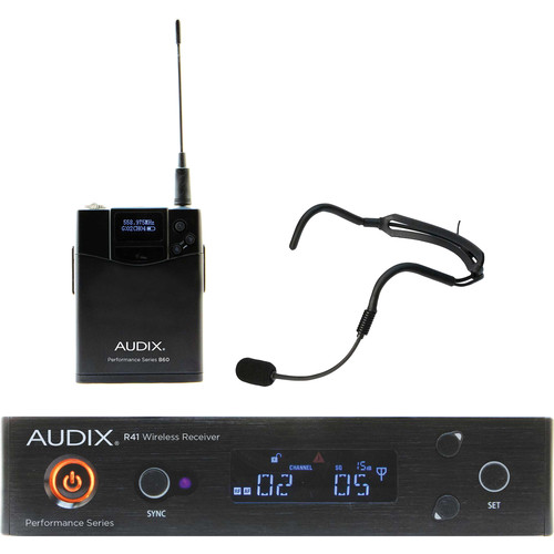Audix AP41 Performance Series Single-Channel Bodypack Wireless System with HT2 Supercardioid Headworn Microphone (554 to 586 MHz)