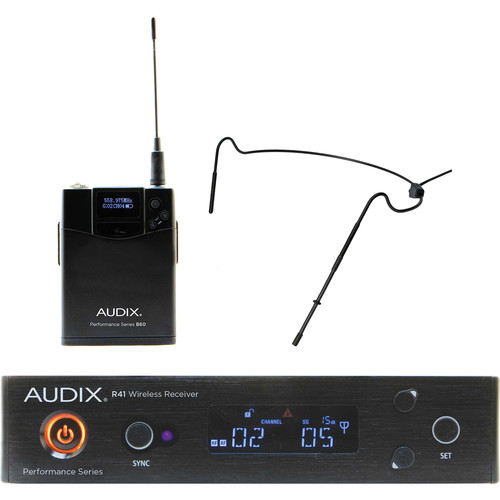 Audix AP41 Performance Series Single-Channel Bodypack Wireless System with HT5 Omnidirectional Headworn Microphone (Black, 554 to 586 MHz)