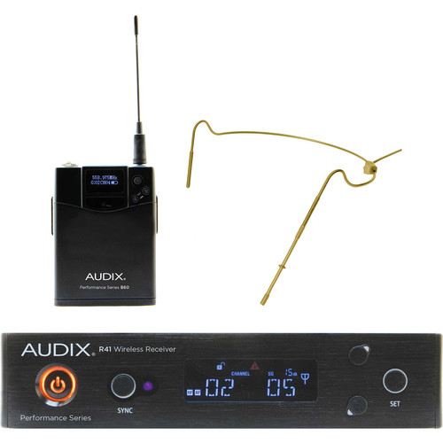 Audix AP41 Performance Series Single-Channel Bodypack Wireless System with HT5 Omnidirectional Headworn Microphone (Beige, 522 to 554 MHz)