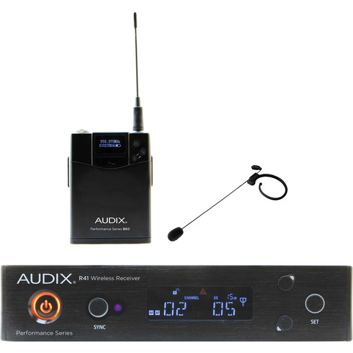 Audix AP41 Performance Series Single-Channel Bodypack Wireless System with HT7 Single-Ear Condenser Microphone (Black, 522 to 554 MHz)