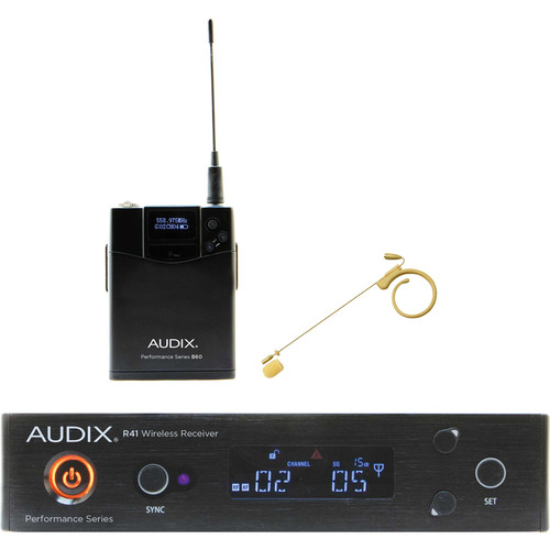 Audix AP41 Performance Series Single-Channel Bodypack Wireless System with HT7 Single-Ear Condenser Microphone (Beige, 554 to 586 MHz)