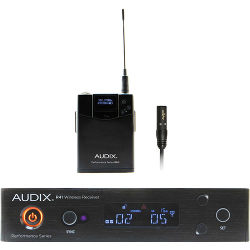 Audix AP41 Performance Series Single-Channel Bodypack Wireless System with L5O Micro Omnidirectional Lavalier Microphone (522 to 554 MHz)