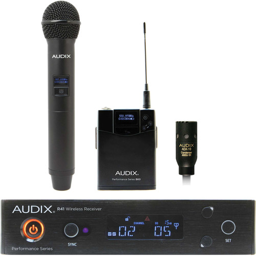 Audix AP41 Performance Series Single-Channel Combo OM2 Handheld & ADX10 Lavalier Wireless System (522 to 554 MHz)