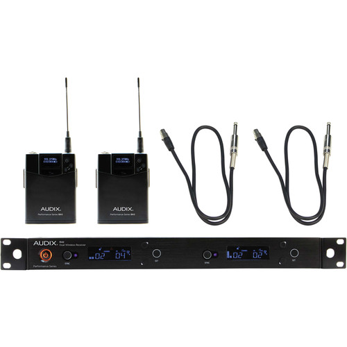 Audix AP42 Performance Series Dual-Channel Guitar Wireless System (554 to 586 MHz)