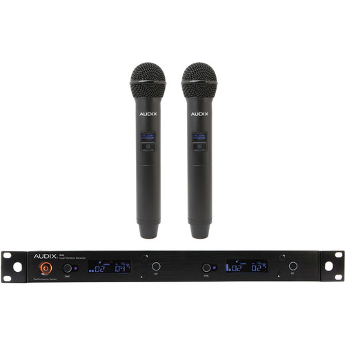 Audix AP42 Performance Series Dual-Channel Wireless System with Two H60/OM5 Handheld Transmitters (554 to 586 MHz)