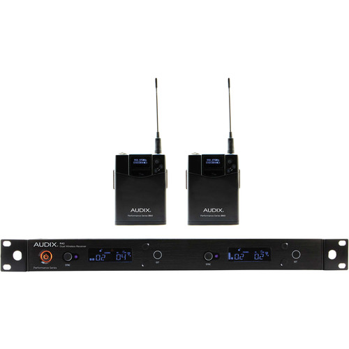 Audix AP42 Performance Series Dual-Channel Bodypack Wireless System (522 to 554 MHz)