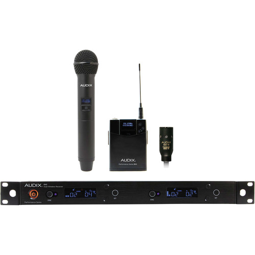 Audix AP42 Performance Series Dual-Channel Combo OM2 Handheld & ADX10 Lavalier Wireless System (522 to 554 MHz)