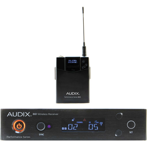 Audix AP61 BP R61 Single-Channel True Diversity Receiver with B60 Bodypack Transmitter (522 to 586 MHz)