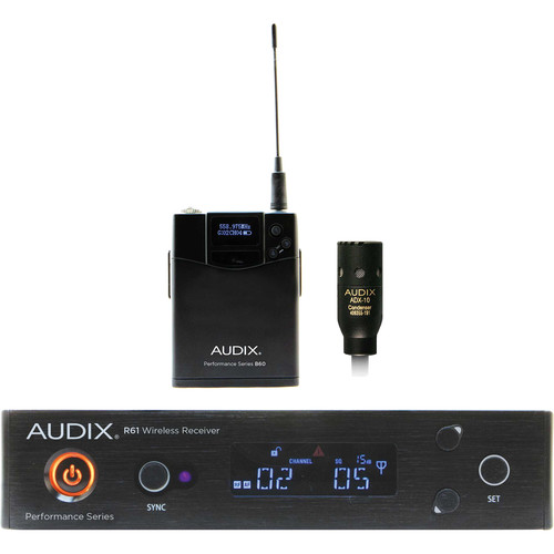 Audix AP61 L10 R61 Single-Channel True Diversity Receiver with Bodypack Transmitter and ADX10 Lavalier Microphone (522 to 586 MHz)