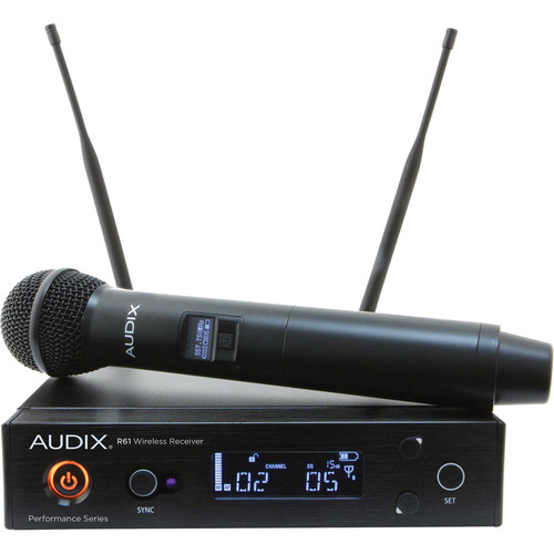 Audix AP61 OM2 R61 Single-Channel True Diversity Receiver with H60 OM2 Handheld Microphone Transmitter (522 to 586 MHz)