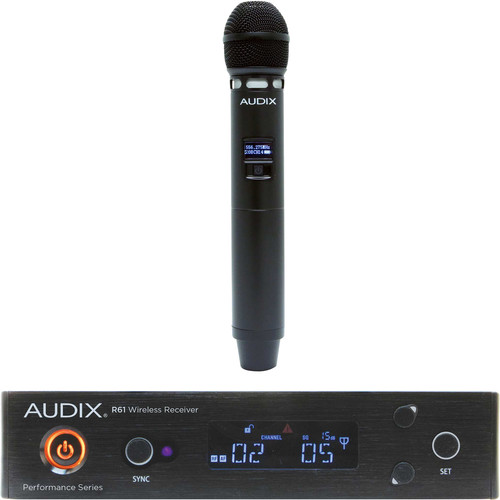 Audix AP61 VX5 R61 Single-Channel True Diversity Receiver with H60 VX5 Handheld Microphone Transmitter (522 to 586 MHz)