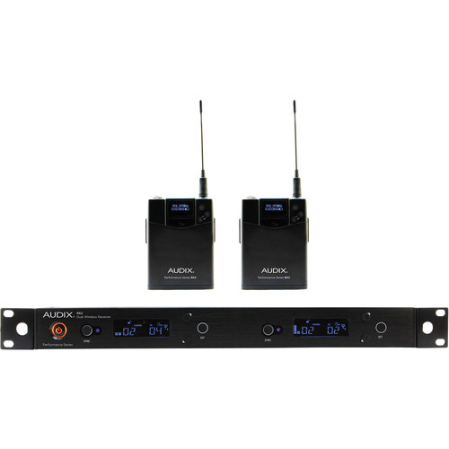 Audix AP62 BP R62 Dual-Channel True Diversity Receiver with Two B60 Bodypack Transmitters (522 to 586 MHz)