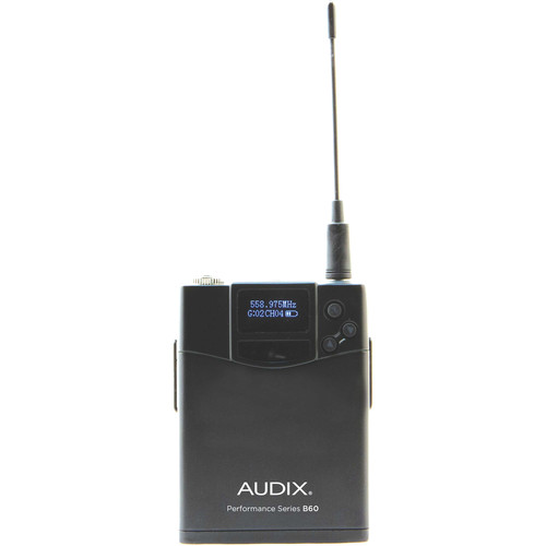 Audix B60 Performance Series Bodypack Transmitter (522 to 586 MHz)