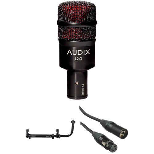 Audix D4 Instrument Microphone with Mounting System and Cable Kit