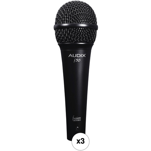 Audix F50 Dynamic Vocal Microphone 3-Pack Kit