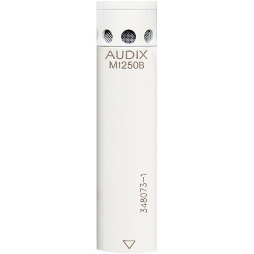 Audix M1250BWO Miniaturized Condenser Microphone (Omnidirectional, White)