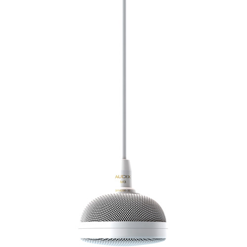 Audix M3 Tri-Element Hanging Ceiling Microphone with 4' Cable (White)