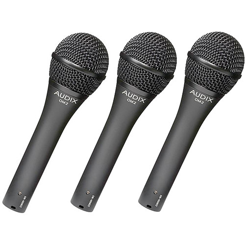 Audix OM2 Dynamic Handheld Hypercardioid Microphone Kit (3 Pack)