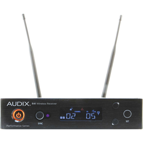 Audix R41 Kit-B Performance Series Single-Channel UHF Diversity Receiver (B: 554 to 586 MHz)