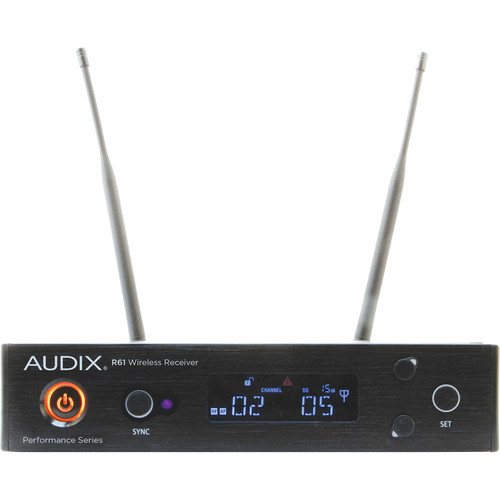 Audix R61 Kit Single-Channel Wireless True Diversity Receiver (522 to 586 MHz)