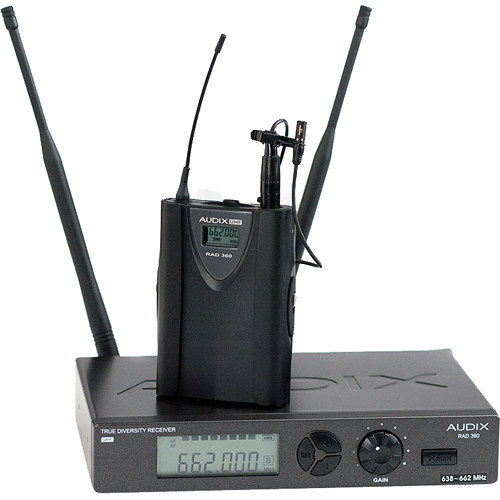 Audix RAD360 Wireless Bodypack System with L5 Omnidirectional Lavalier Microphone (Channel B)