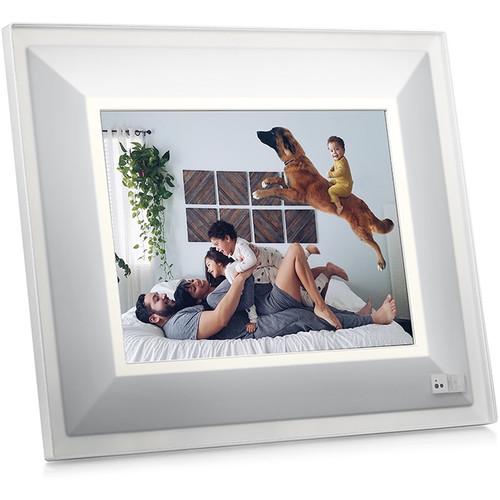 """Aura Frames 9.7"""" Smart Frame (Quartz with Silver Trim)"""