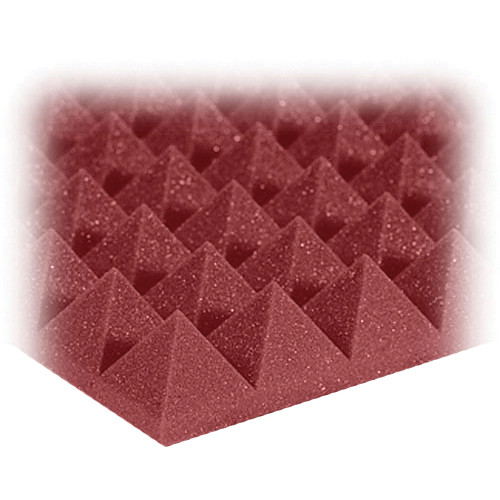 "Auralex 2"" Studiofoam Pyramids Acoustic Absorption Panels (Burgundy, 6 Pieces)"