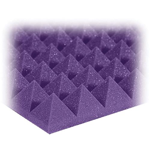 """Auralex 2"""" Studiofoam Pyramids Acoustic Absorption Panels (Purple, 6 Pieces)"""
