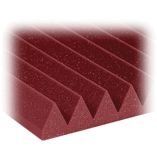 """Auralex 2"""" Studiofoam Wedges Acoustic Absorption Panels (Burgundy, 6 Pieces)"""
