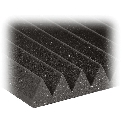 "Auralex 2"" Studiofoam Wedges Acoustic Absorption Panels (Charcoal, 6 Pieces)"
