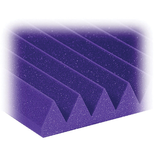 "Auralex 2"" Studiofoam Wedges Acoustic Absorption Panels (Purple, 6 Pieces)"